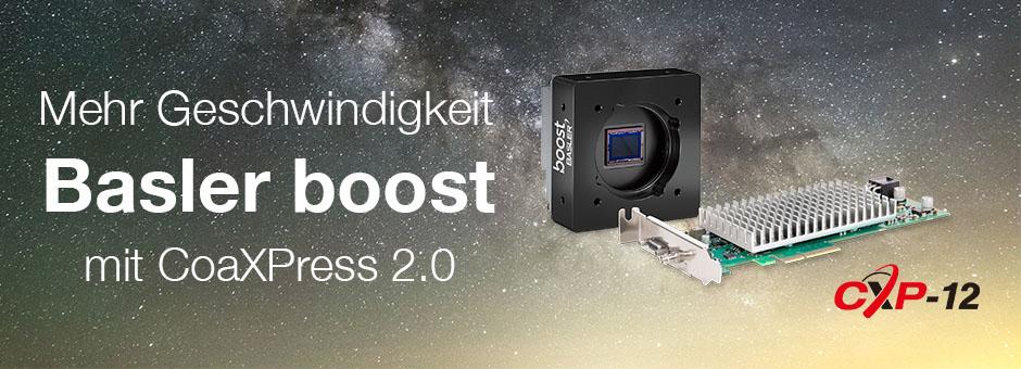 Basler boost: Die Kamera mit CoaXPress 2.0 Industriekameras