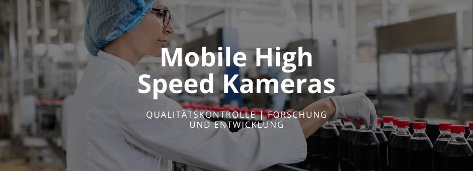 Des solutions de caméras mobiles à haute vitesse pour de nombreuses applications Haute vitesse