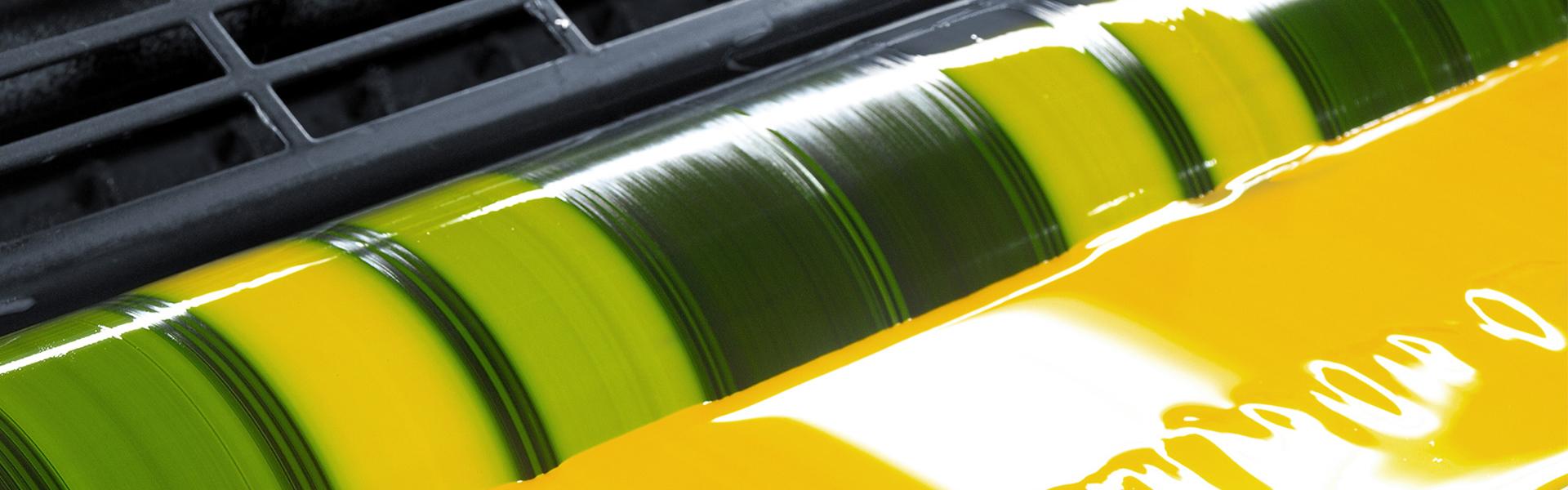 Farben und Lacke Etikettendruck