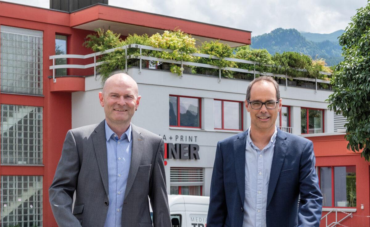 Das Duett aus Schwyz: Triner Media + Print Printing